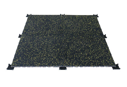Built-in button rubber floor m